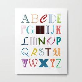 ALPHABET ABCs Artwork - Colorful Metal Print