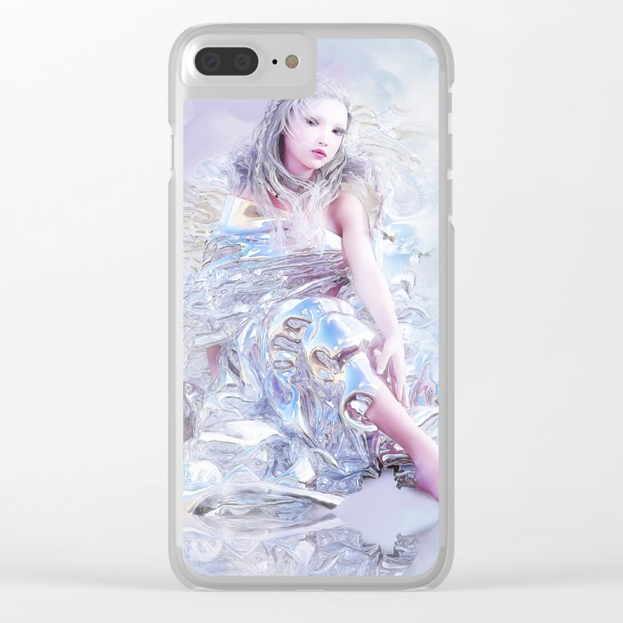 Silver Wind Clear iPhone Case