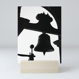 Church bell silhouette Mini Art Print