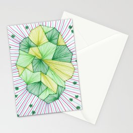 Abstract microscope element Stationery Cards