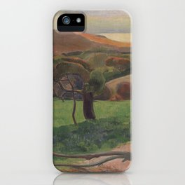 Paul Gauguin - Landscape from Bretagne (1889) iPhone Case