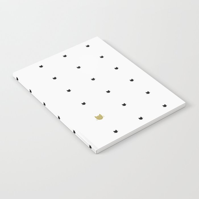 One Golden Cat - White Notebook