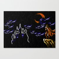 castlevania Canvas Prints featuring Castlevania III Trevor Belmont poster by VGPrints