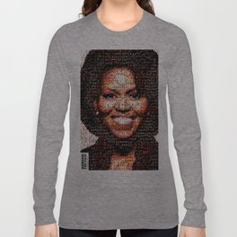 BEHIND THE FACE Michelle Obama | fat women Long Sleeve T-shirt