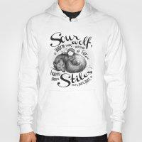 stiles Hoodies featuring Sterek Sleepy Wolf & Stiles II by siny