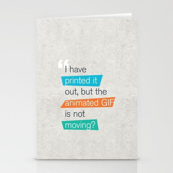 animated GIF  Stationery Cards