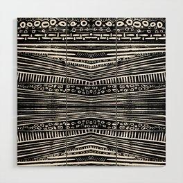 Linocut Tribal Pattern Wood Wall Art