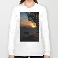 buddah Long Sleeve T-shirts featuring Sunset from the Big Buddah Café by Ciaran Mcg
