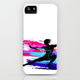 Martial arts, karate, yoga, aikido, judo, athlete iPhone Case