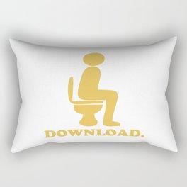Downloading Poop Rectangular Pillow