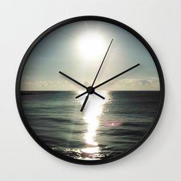 Shortly after sunrise near Nessebar beach, Bulgaria, the Black Sea Wall Clock