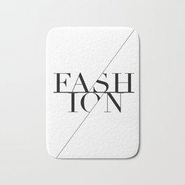 fashion typography Bath Mat