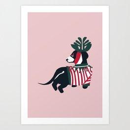 Dog on Holiday Art Print
