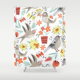 Spring Songs Shower Curtain