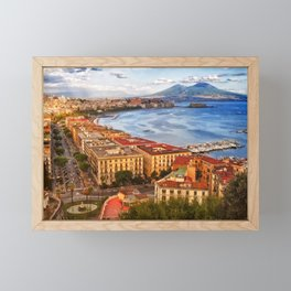 Italy, the gulf of Naples seen from the Posillipo hill Framed Mini Art Print