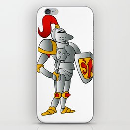 Cartoon knight. iPhone Skin