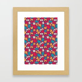 Korean alphabet pattern Framed Art Print