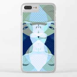 A red-haired woman - Abstrac31 Clear iPhone Case