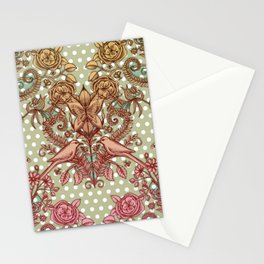 Birds & Butterflies, Polka Dots & Pencil Drawing Stationery Cards