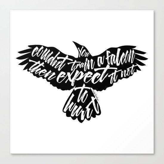 Six of Crows - Falcon design Canvas Print