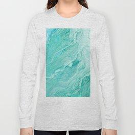 Azure marble Long Sleeve T-shirt