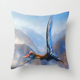 Quetzalcoatlus Northropi Restored Throw Pillow