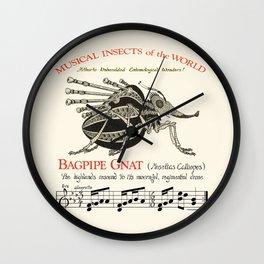 BAGPIPE GNAT  Musettas Calliopus   Wall Clock