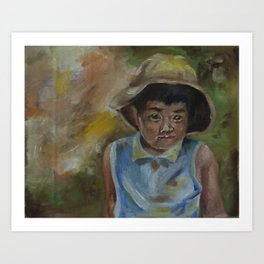 little shanghai boy Art Print