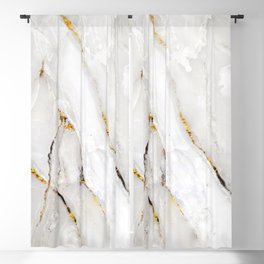 Calacatta glossy marble with gray streaks Blackout Curtain