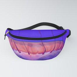 Jellyfish Photography   Pink   Purple   Rainbow   Colourful Deep Sea Exploration   Ocean creature Fanny Pack