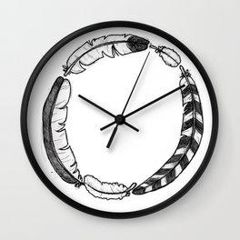 Feather Circle Wall Clock
