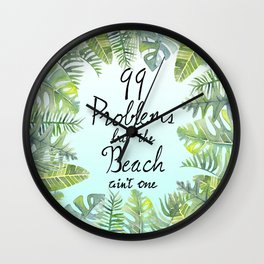 Tropical Chill Wall Clock
