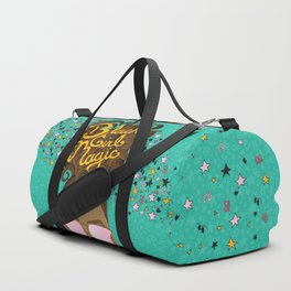 Black Girl Magic Teal Duffle Bag