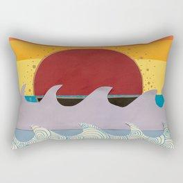 Paper Sunset Rectangular Pillow