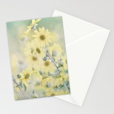 Pastel Wildflowers Yellow Helianthus Daisies -- Botanical Landscape Stationery Cards