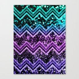 Unicorn Glitter Chevron #4 #shiny #decor #art #society6 Canvas Print