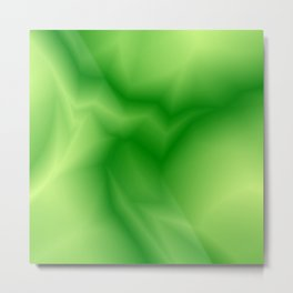 Pastel lines of green lightning with a vintage gap Metal Print