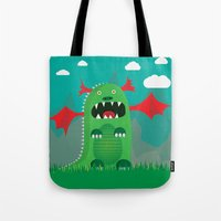 dragons Tote Bags featuring Dragons! by SkippyZA
