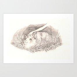 Holy Pig Art Print