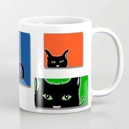Cats in Squares Coffee Mug
