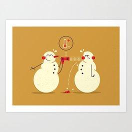 Snowman ... Art Print