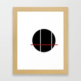 Black, Red, White Framed Art Print