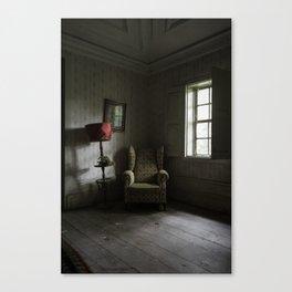 Waiting room, abandoned manor Canvas Print