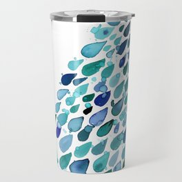 Inkdrops of Joy - Right Side Travel Mug