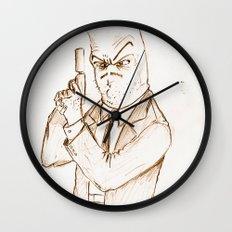 Hotdog Detective  Wall Clock