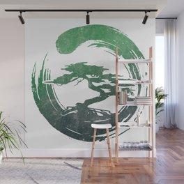 Green Bonsai in Enso Wall Mural