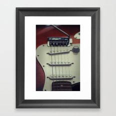 Electric Guitar Framed Art Print