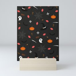 Halloween Pattern Mini Art Print