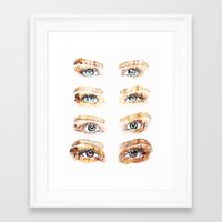 golden girls Framed Art Prints featuring The Golden Girls by Sara Eshak