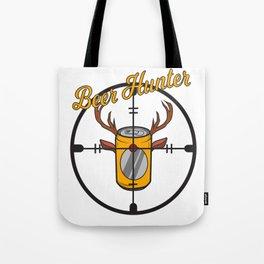 Beer can hunter crosshair drink alcohol deer antler humor joke gift Tote Bag